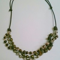 Triple Strand Leather and Hemp Necklace