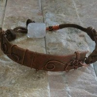 Hammered Copper Quartz Bracelet 5